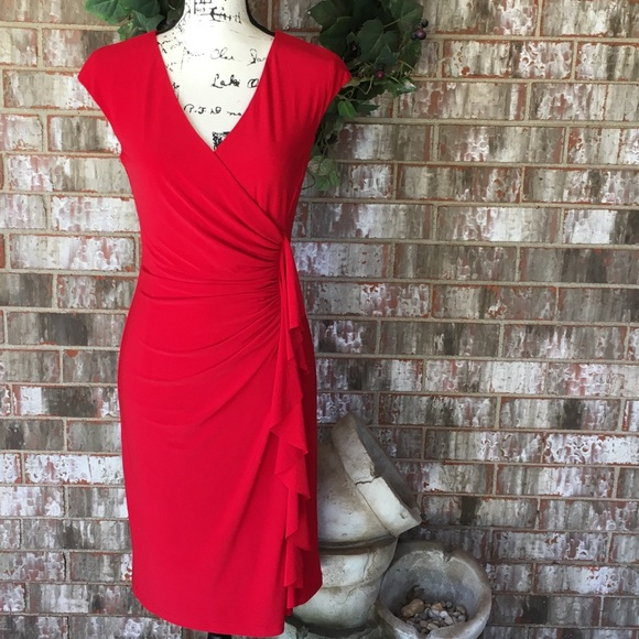 Evan Picone Dresses & Skirts - EUC BLACK LABEL by EVAN PICONE Exquisite Red Dress